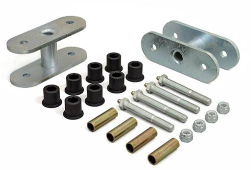 Suspension Components - Hanger Kits & Shackle Kits - Daystar Suspension - 1976-1986 Jeep CJ 1-1/2 Inch Rear Greasable Lifting Shackles
