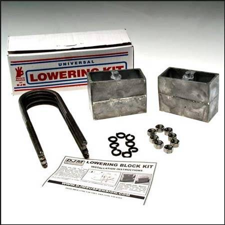 Suspension Components - Block & U Bolt Kits - DJM Suspension - 4 Inch Aluminum Lowering Block Kit, Universal