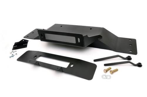 Exterior - Bumpers & Tire Carriers - Rough Country Suspension - 2009-2014 Ford F-150 Hidden Winch Mounting Plate