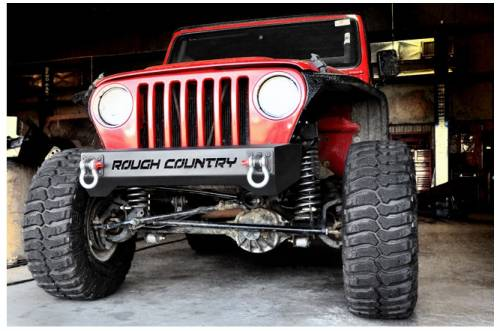 Rough Country Suspension - 1011 | Jeep Front Stubby Bumper