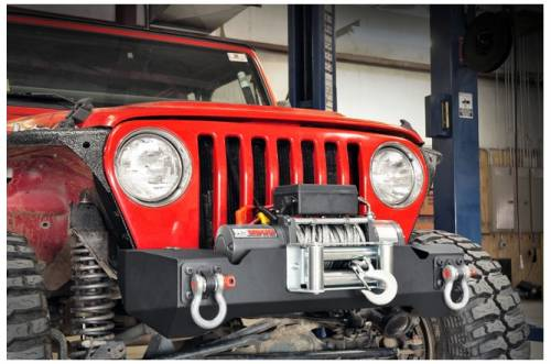 Rough Country Suspension - 1012 | Jeep Front Stubby Winch Bumper