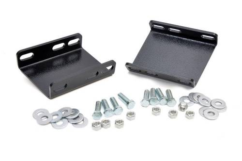 Suspension Components - Sway Bars & End Links - Rough Country Suspension - 1018 | Ford Front Sway Bar Drop Brackets
