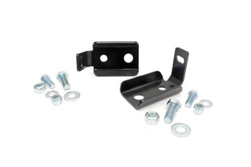 Vehicle Specific Products - Rough Country Suspension - 1020 | Jeep Front Shock Relocation Kit