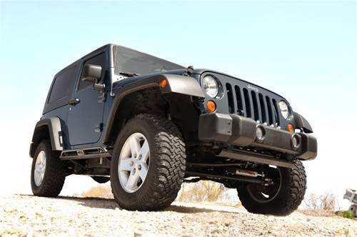 Rough Country Suspension - 1047 | Jeep Front Bumper Caps (07-18 Wrangler JK) - Image 2