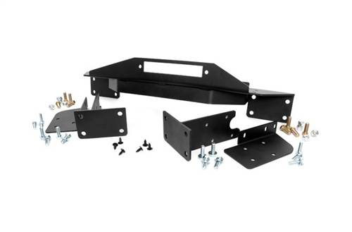 Exterior - Bumpers & Tire Carriers - Rough Country Suspension - Jeep Winch Mounting Plate
