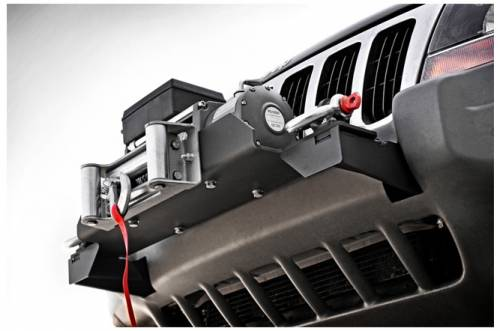 Exterior - Bumpers & Tire Carriers - Rough Country Suspension - 1999-2004 Jeep WJ Grand Cherokee Winch Mounting Plate