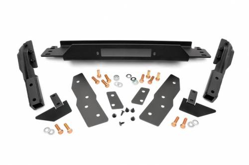 Exterior - Bumpers & Tire Carriers - Rough Country Suspension - 1064 | Jeep Winch Mounting Plate