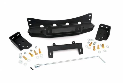 Exterior - Bumpers & Tire Carriers - Rough Country Suspension - 1080 | 2007-2013 GM 1500 Pickup Hidden Winch Mounting Plate