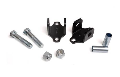Suspension Components - Shock Extension, Relocation Kits - Rough Country Suspension - 1088 | Jeep Front Lower Bar Pin Eliminators