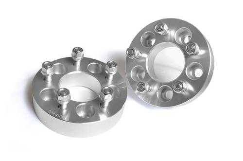 Wheels - Wheel Spacers - Rough Country Suspension - 1090 | Jeep 1.5 Inch Wheel Spacers | 5 X 4.5 Bolt Pattern