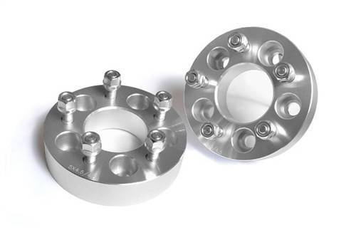 Wheels - Wheel Spacers - Rough Country Suspension - 1097 | Jeep 1.5 Inch Wheel Spacers | 5 x 5.5 Bolt Pattern