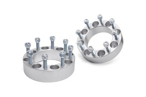 Wheels - Wheel Spacers - Rough Country Suspension - 1094 | Ford 2 Inch Wheel Spacers | 8 X 170 Bolt Pattern
