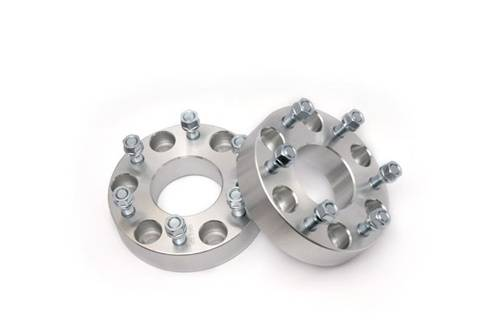 Wheels - Wheel Spacers - Rough Country Suspension - 1101 | GM 2 Inch Wheel Spacers | 6 x 5.5 Bolt Pattern