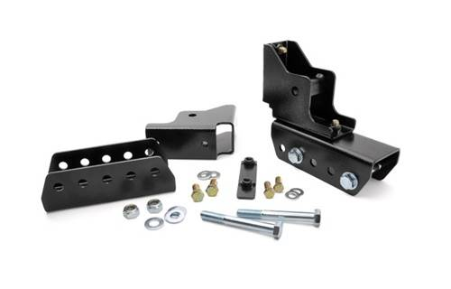 Suspension Components - Hanger Kits & Shackle Kits - Rough Country Suspension - 1117  | Jeep Shackle Relocation Kit