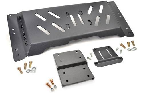 Rough Country Suspension - 1120 | Jeep High Clearance Skid Plate (4.0L with Automatic ONLY)