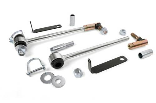 Just Jeeps - WJ Grand Cherokee - Rough Country Suspension - Jeep Front Sway Bar Disconnects (3-6 Inch)