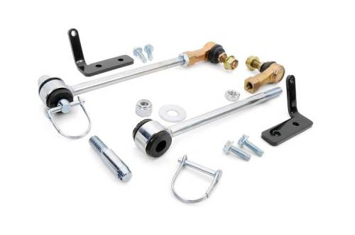 Rough Country Suspension - 1029   Jeep Front Sway Bar Disconnects   2.5 Inch Lift