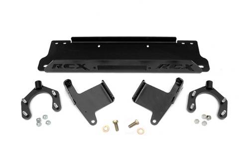 Exterior - Bumpers & Tire Carriers - Rough Country Suspension - 1162 | Jeep Winch Mounting Plate