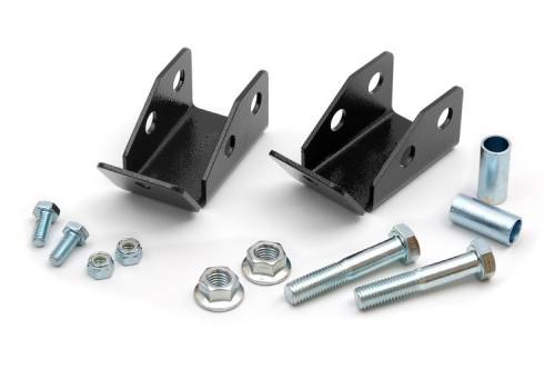 Suspension Components - Shock Extension, Relocation Kits - Rough Country Suspension - Rear Shock Relocation Brackets