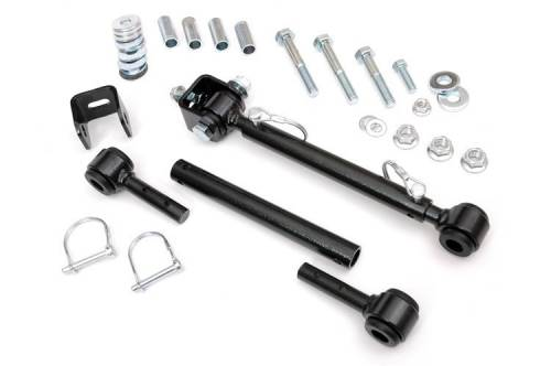 Rough Country Suspension - 1186 | Jeep Front Sway Bar Disconnects | 4-6 Inch Lift