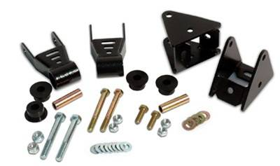 Suspension Components - Hanger Kits & Shackle Kits - Rough Country Suspension - 5061 | Jeep Shackle Reversal Kit