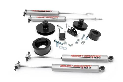 Suspension - Suspension Lift Kits - Rough Country Suspension - 65830 | 2 Inch Jeep Suspension Lift Kit w/ Premium N3 Shocks