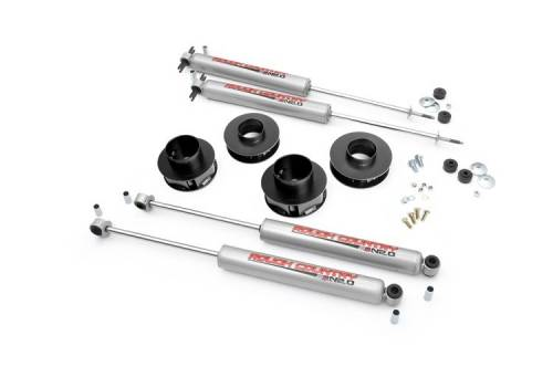 Suspension - Suspension Lift Kits - Rough Country Suspension - 69530 | 2 Inch Jeep Suspension Lift Kit w/ Premium N3 Shocks