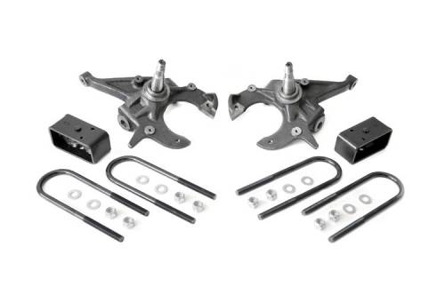 Suspension - Suspension Lift Kits - Rough Country Suspension - 1982-2003 Chevrolet/GMC S10/S15 Pickup 2wd, 1983-2004 S10 Blazer, S15 Jimmy 2wd 2/2.5 Inch Lowering Kit
