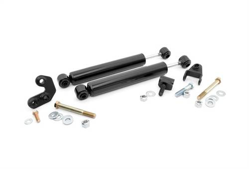 Suspension Components - Steering Stabilizers - Rough Country Suspension - Jeep Dual Steering Stabilizer