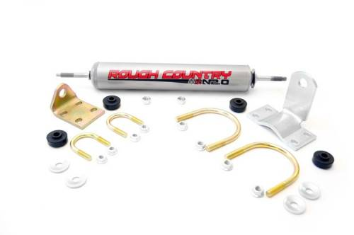 Suspension Components - Steering Stabilizers - Rough Country Suspension - 87355.20 | GM Steering Stabilizer
