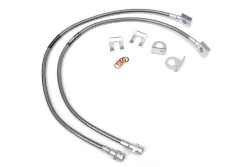 TJ Wrangler - TJ Brake Lines - Rough Country Suspension - 89702 | Jeep Extended Front Brake Lines