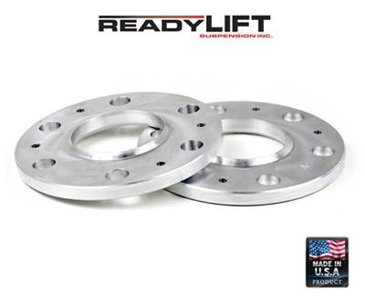 Wheels - Wheel Spacers - ReadyLIFT Suspensions - 15-3485 | GM  1/2 Inch Wheel Spacers | 6 x 5.5 Bolt Pattern