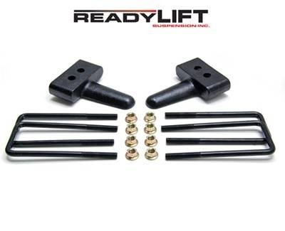 ReadyLIFT Suspensions - 66-2051 | 1.5 Inch Ford Rear Block & U Bolt Kit