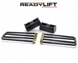 ReadyLIFT Suspensions - 66-3002 | 2 Inch GM Rear Block & U Bolt Kit