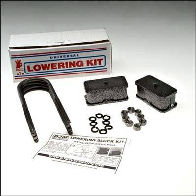 Suspension Components - Block & U Bolt Kits - DJM Suspension - 2 Inch Steel Lowering Block Kit