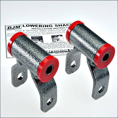 Suspension Components - Hanger Kits & Shackle Kits - DJM Suspension - SH1092 | 1 Inch Dodge Rear Lowering Shackle
