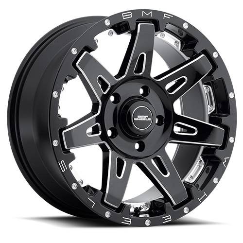 Wheels - BMF Wheels - BMF Wheels - 20X9 B.A.T.L. Death Metal 5X5 -12mm