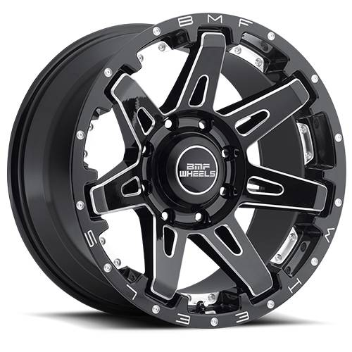 Wheels - BMF Wheels - BMF Wheels - 20X9 B.A.T.L. Death Metal 8X6.5, 0mm