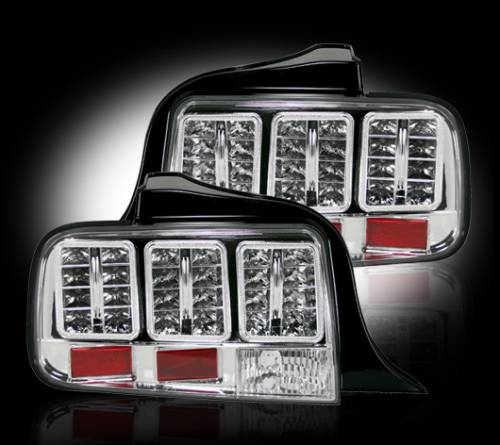 Lighting - LED Taillights - Recon Truck Accessories - 2005-2009 Ford Mustang LED Tail lights | Clear