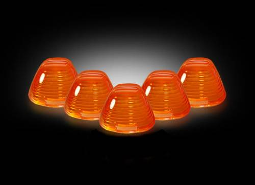 Lighting - Cab Roof Lights - Recon Truck Accessories - 1999-2016 Ford F-250, F-350 Super Duty Cab Roof Light Lenses - Amber