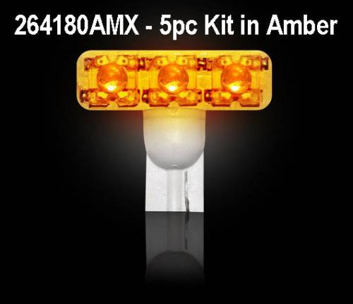 Recon Truck Accessories - 194 Type 1-Watt High Power LED Bulb - Amber- 5 Piece Kit
