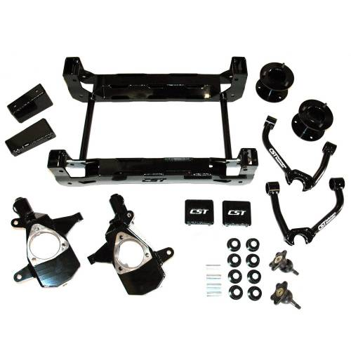 CST Suspension - 2007-2013 Chevrolet Silverado 1500, GMC Sierra 4 Inch Lift Kit - 2/4wd