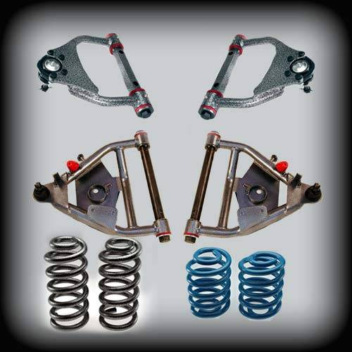 DJM Suspension - 1963-1972 Chevrolet C10, GMC C10 5/5 Lowering Kit, With Upper Control Arms - Drum Brakes