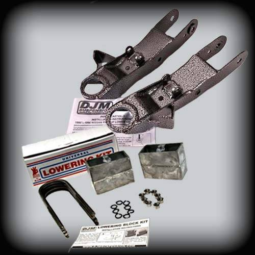 DJM Suspension - 1986-1997 Nissan Hardbody 2wd 3/4 Lowering Kit