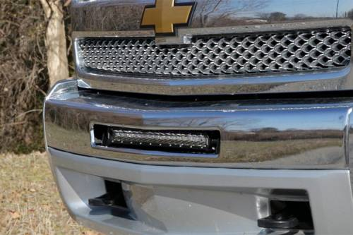 Lighting - Light Mounts / Brackets - Rough Country Suspension - 70523 | 20 Inch Single Row LED Light Bar Hidden Bumper Mounts (Chevrolet)