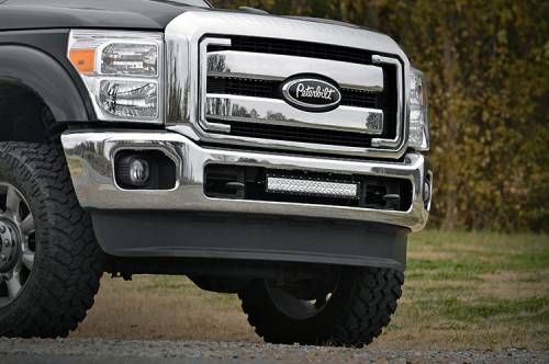 Lighting - Light Mounts / Brackets - Rough Country Suspension - 70524 | 20 Inch LED Light Bar Hidden Bumper Mounts (Ford)