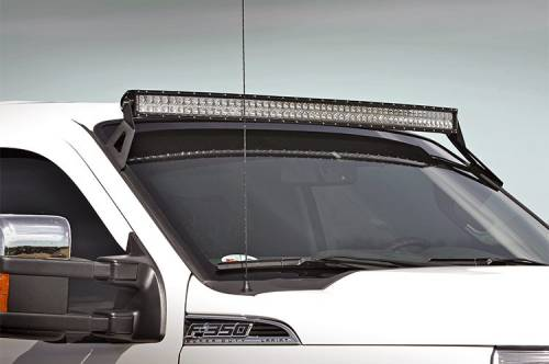 Lighting - Light Mounts / Brackets - Rough Country Suspension - 70516 | 54 Inch Curved LED Light Bar Upper Windshield Mount (Ford)