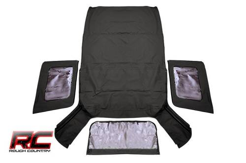 Exterior - Relpacement Tops - Rough Country Suspension -  85130.35 | Jeep Replacement Soft Top (Black Denim)
