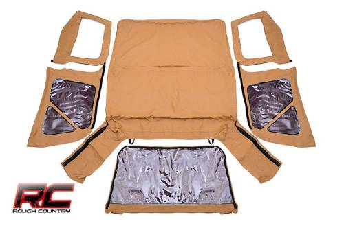 Exterior - Relpacement Tops - Rough Country Suspension - 1997-2006 Jeep TJ (Half Steel Doors) Replacement Soft Top - Spice