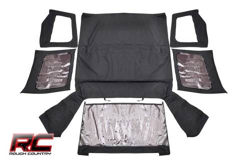 Exterior - Relpacement Tops - Rough Country Suspension - 84050.35 | (Half Steel Doors) Replacement Soft Top